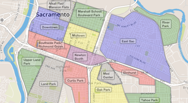 Neighborhoods - Downtown Sac on story map, sce map, smc map, smf map, fremont map, wayne map, slc map, strategic air command map, spu map, sacto ca map, ssc map,